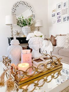 Styling your Coffee Table for Spring • Glittered Lovely