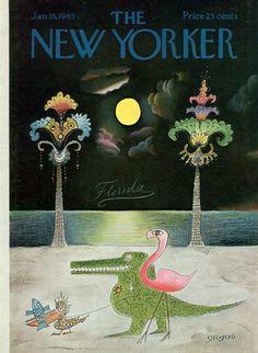 Saul Steinberg : Cover art for The New Yorker 2083 - 16 January 1965 The New Yorker, New Yorker Covers, Saul Steinberg, All Poster, Poster Prints, Art Print, Book Design, Cover Design, Magazine Art