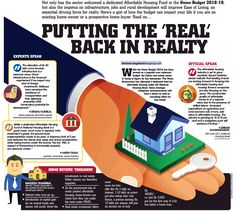 PUTTING THE 'REAL' BACK IN REALTY: Here's a gist of how the budget can impact your life if you are an existing home-owner or a prospective home-buyer. #RealEstate #Realtor #Home #Housing #House #AffordableHomes #UnionBudget2018 #Budget2018 #NewIndiaBudget #Budget #Apartments #Flats #Chennai #India