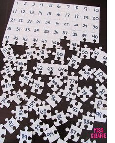 100 piece puzzle from the dollar store makes a perfect hundreds chart puzzle... and other great number sense tips!! Must read!