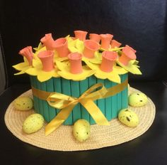 Handmade Easter Bonnet/Hat Spring bouquet