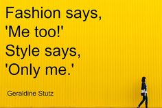 fashion or style