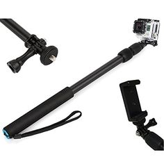 VertiGo TL-40 Monopod - Light Weight Extendable Pole For Your GoPro, IPhone, or Sports/Action/Sightseeing Camera - For GoPro Hero (Black/Silver) - This Selfie Stick Includes Universal Cellphone (Apple/Android) Holder AND Camera Mount - 100% Guarantee VertiGo http://www.amazon.com/dp/B00QSJK9QW/ref=cm_sw_r_pi_dp_82k-ub1CEDHAD