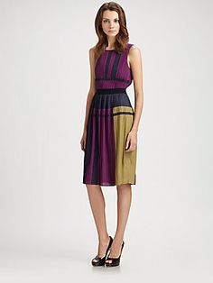 BCBGMAXAZRIA Arleney Pleated Dress... Just bought! Color blocking at it's best