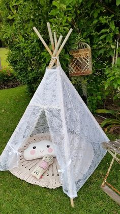 Teepee. Play Tent. Lace Teepee handmade by by kittyandzacs on Etsy