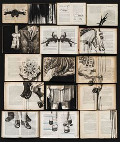 Fragmented Ink Paintings on Arrays of Vintage Books by Ekaterina Panikanova – Origami Design Museum, Libros Pop-up, Jobs In Art, Collage Art Mixed Media, Colossal Art, Origami Art, Ink Illustrations, Art Sketchbook, Female Art