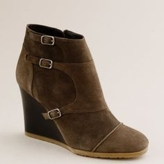 Greer wedge ankle boots - J.Crew - Polyvore