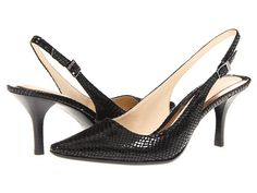 Calvin Klein Calvin Klein  Day Classic Python (Black) Womens Sling Back Shoes for 55.99 at Im in!