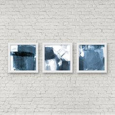 Set of 3 Blue White Scandinavian Style Prints, Triptych, Printable... (150 MAD) ❤ liked on Polyvore featuring home, home decor, wall art, blue and white home decor, blue and white wall art and printable wall art