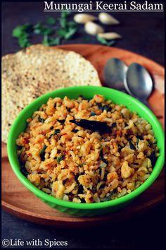 Moringa leaves / Drumstick leaves rice