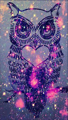 Dark owl galaxy wallpaper I created!