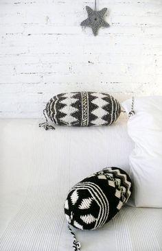 Pillow Crochet Marrakech    diamond gray por lacasadecoto en Etsy, €26.00