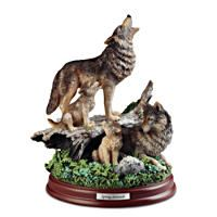 Al Agnew Listen To The Spirit Within Cold-Cast Bronze Wolf Sculpture