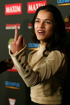 "Michelle Rodriguez is Eve (Evalia ""Eve"" Jiminez Barreras); my inspiration for ""Eve of Destruction."""