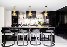 high gloss and super glam. Black, white & gold lovies