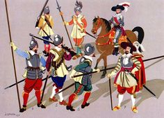 """German Infantry"" one half of the XVII century. Fig. K. Linder."