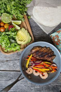 Surf and Turf Fajitas - July Featured Recipe {Via Food for My Family}