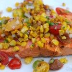 I've always liked salmon, but really learned to love it when we moved to Seattle. Waiting for the first wild salmon of the season is a Pacific Northwest tradition for our family and summer is the best time to enjoy it. This grilled salmon with corn salsa is a great dish for summer. It's so easy