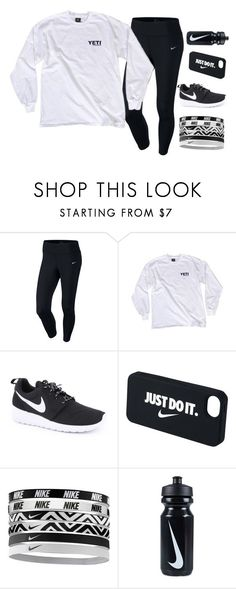 Comfy Nike by mbra2972 ❤ liked on Polyvore featuring NIKE