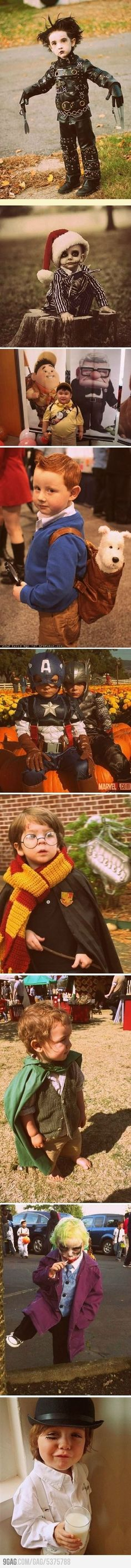 Children imitating famous movie characters