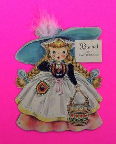 Vintage Greeting Unused Barbel of Switzerland Hallmark Dolls of Nation 30 Card | eBay
