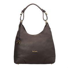 Pierre Cardin 1564 FRZ DOLLARO Grainy Genuine Leather Hobo Bag Made in Italy