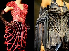 Skeleton Denim Corset Dress by Love at First Blush, via Flickr froma Jean Paul Gaultier exhibit