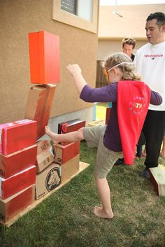 """Party Game : Knocking down walls is definitely super hero fun. There should be """"someone in distress"""" on the other side of the walls for them to save!"""