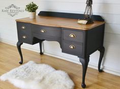 queen anne drawers black - Google Search