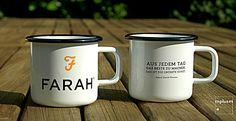 Schöne Emaillebecher. Hergestellt in EUROPA. Ab 100 Stück mit eigenem Design. #emaille #emaillebecher #madeineurope #kaffee #custommade
