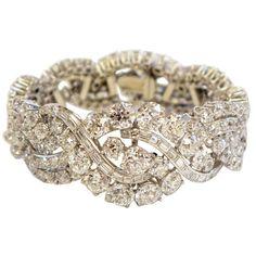 1950 | Boucheron Platinum Diamond Bracelet.