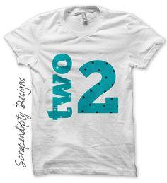2nd Birthday Iron on Shirt PDF  Boys Iron by ScrapendipityDesigns, $2.50