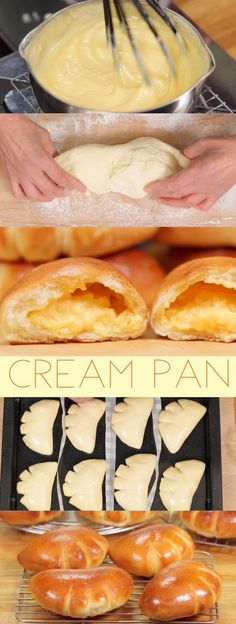 dessert/sweets The Best Cream Pan with Custard Filling Recipe (Japanese Sweet Buns Filled with Exquisite Pastry Cream) Asian Desserts, Sweet Desserts, Sweet Recipes, Japanese Desserts, Gourmet Desserts, Plated Desserts, Japanese Appetizers, Japanese Recipes, Japanese Pastries
