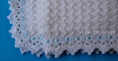 Free crochet pattern for a Beautiful Baby Blanket in a simple yet textured stitch. This blanket can be made any size and finished off with an impressive easy crochet border.