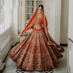 If love at first sight had a face! This beautiful lehenga loaded with antique embroidery- dabka, zardosi, pitta zari and gotta patti is… Wedding Function, Pitta, Love At First Sight, Bridal Outfits, Mehendi, Dreaming Of You, Dream Wedding, Embroidery, Antique