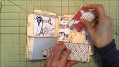 File folder mini created with Teresa Collins Stationary Noted. Love this paper, beautiful texture and weight. Simple album with lots of pockets and tags. See...