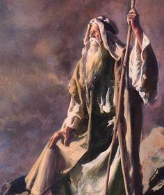 Moses Old Testament Jesus Christ Painting, Jesus Art, Vintage Holy Cards, Spiritual Paintings, Bible Illustrations, Bible Pictures, Biblical Art, Bible Art, Scripture Study