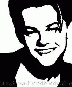 famous people stencil | leonardo_dicapr...