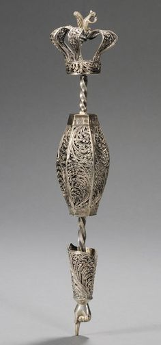 judaica auction | antique judaica | Skinner.     Russian Silver and Silver Filigree Torah Pointer,