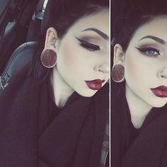 Eyeliner Emo Augen Make-up – makeup products Red Lip Makeup, Dark Makeup, Beauty Makeup, Make Up Looks, Gothic Makeup, Eyeliner Looks, Emo Eyeliner, Eyeliner Makeup, Korean Eyeliner