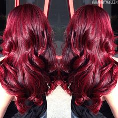 Red hair, bright vibrant hair, dimensional red hair, big red hair, curly red hair, volume, think hair, highlights, shiny hair, mermaid hair, Hair by Jayleen, @hairbyjayleen, The Hot Seat Salon, San Diego, CA
