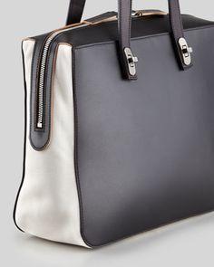 Marni Bi-Color Turn-Lock Strap Shoulder Bag - Neiman Marcus- $600