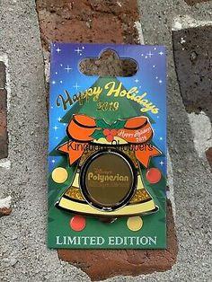 2019 Disney Polynesian Village Resort Holiday Bell Pin LE 3000 Moana & Pua | eBay