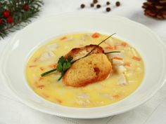 Hustá rybí polévka Fish Soup, Soups And Stews, Fish Recipes, Cheeseburger Chowder, Thai Red Curry, Mashed Potatoes, Sweets, Chicken, Baking