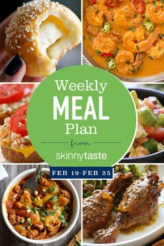 Skinnytaste Meal Plan (February 19-February 25)