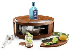 bombay sapphire table mini bar coctail
