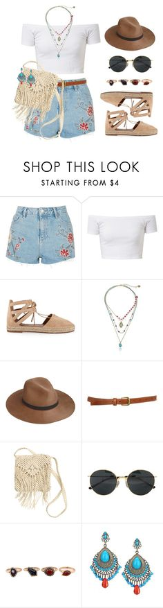 """13 ☼"" by hey-nice-to-meet-you ❤ liked on Polyvore featuring Topshop, Aquazzura, Betsey Johnson, rag & bone, H&M, Dries Van Noten, WithChic, Summer and boho"