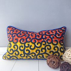 20 x 12 African Lombard Pillow Cover throw pillow by JuneThirty