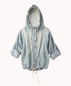 drawstring denim jacket