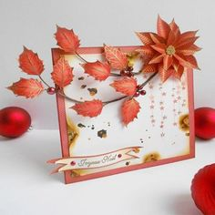 houx feuille -tampon nm Poinsettia, Tampon Scrapbooking, Stamp, Tampons, So Little Time, Christmas Cards, Simple, Blog, Voici